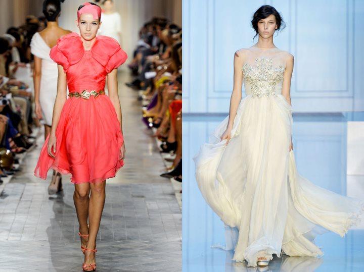 haute couture róż biel