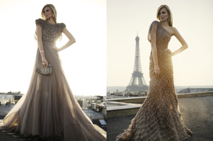 haute couture złote suknie