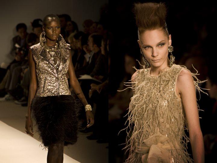 haute couture złoty czarny