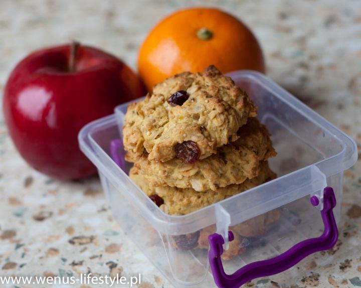 ciasteczka owsiane składniki prosty szybki przepis 1 drugie śniadanie przekąska