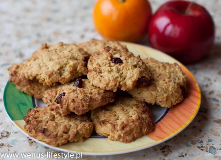 ciasteczka owsiane składniki prosty szybki przepis drugie śniadanie przekąska 2