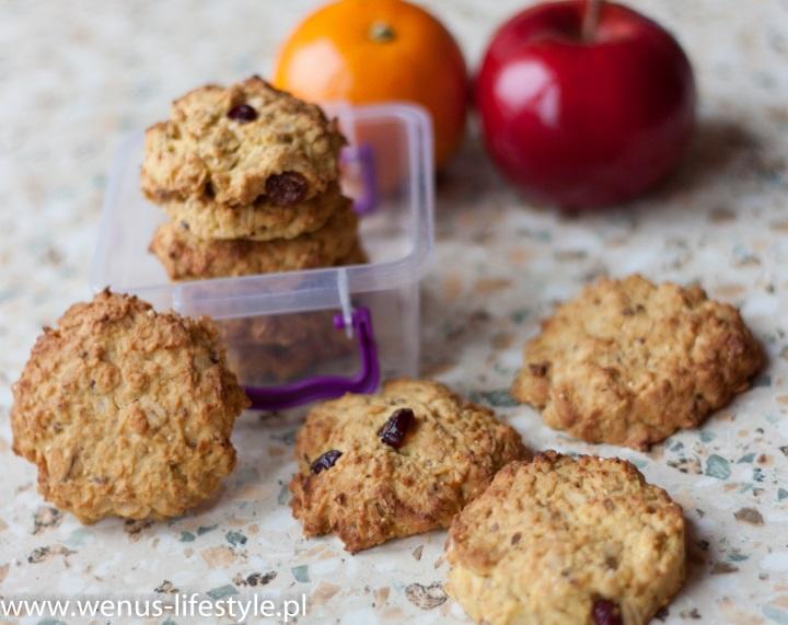ciasteczka owsiane składniki prosty szybki przepis drugie śniadanie przekąska 3