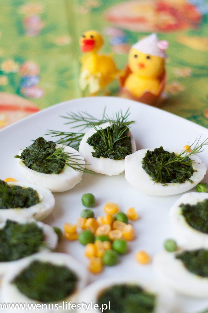 faszerowane jajka wielkanoc śniadanie wielkanocne pasta ze szpinaku przepis 12