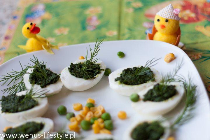 faszerowane jajka wielkanoc śniadanie wielkanocne pasta ze szpinaku przepis 5