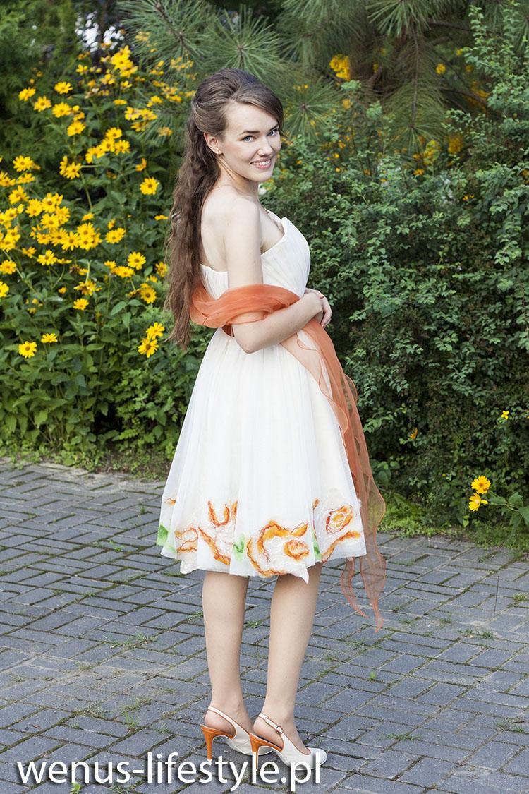 sukienka dla druhny świadkowej jak się ubrać na wesele na ślub 2a