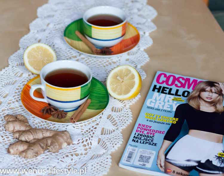 herbata z imbirem rozgrzewająca przepis