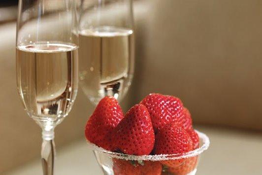 truskawki szampan